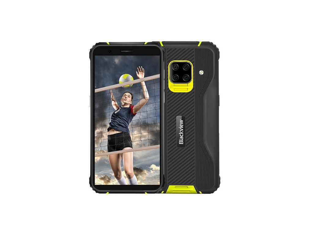 iGET Blackview GBV5100 Yellow odolný telefon, 5,7'' HD+ IPS, 4GB+128GB, DualSIM, 4G, 5580mAh, NFC