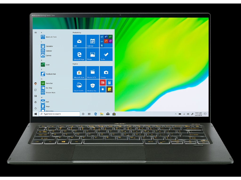 Acer Swift 5 - 14T''/i5-1135G7/16G/512SSD/MX350/W10 zelený