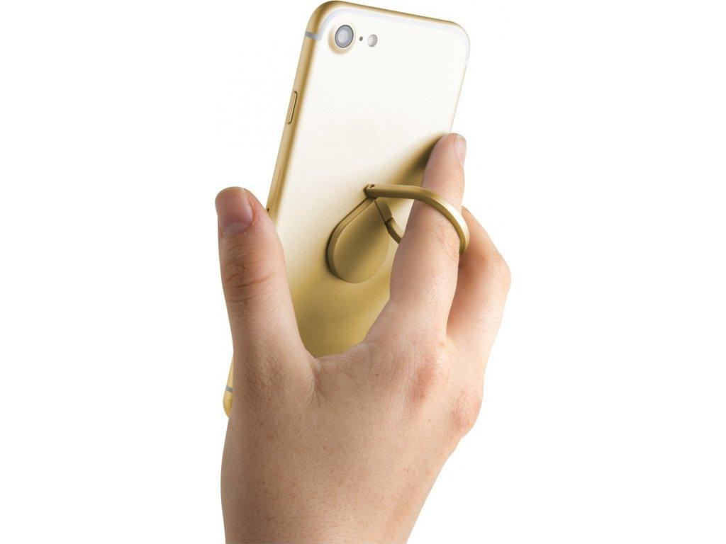 Prstýnek CELLY Ring pro mobilní telefony, funkce stojánku, zlatý
