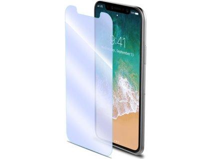 Ochranné tvrzené sklo CELLY Glass antiblueray pro Apple iPhone X