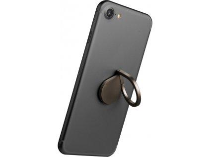 Prstýnek CELLY Ring pro mobilní telefony, funkce stojánku, černý