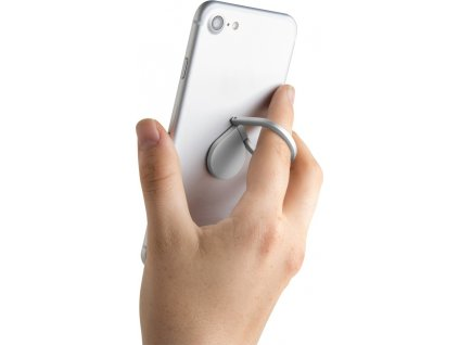 Prstýnek CELLY Ring pro mobilní telefony, funkce stojánku, stříbrný