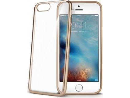 TPU pouzdro CELLY Laser - lemování s kovovým efektem pro Apple iPhone 7/8, zlaté